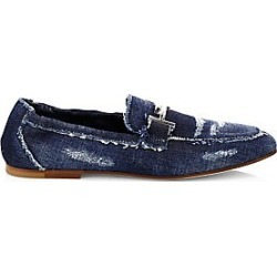 Tod's Women's Distressed Denim Loafers - Blue - Size 38.5 (8.5) found on Bargain Bro India from LinkShare USA for $695.00