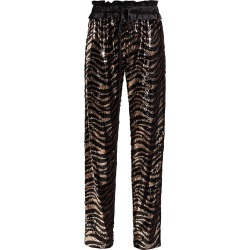 Adriana Iglesias Women's Aila Tiger-Stripe Sequin Pants - Black - Size 36 (4) found on MODAPINS from Saks Fifth Avenue for USD $700.00