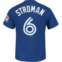 T-shirt des Blue Jays de Toronto avec applique du 40e anniversaire, Marcus Stroman
