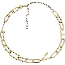 Jennifer Zeuner Jewelry Women's Rissa 14K Goldplated Love Charm Necklace - Gold found on Bargain Bro from Saks Fifth Avenue for USD $183.92