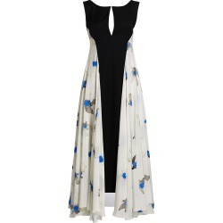 Nina Ricci Women's Crepe de Chine Silk Floral Pleated Wool Gown - Natural - Size 6 found on MODAPINS from Saks Fifth Avenue for USD $1255.50