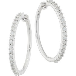 Hearts On Fire Women's 18K White Gold & Diamond Classic Hoops - White Gold found on Bargain Bro Philippines from Saks Fifth Avenue for $3430.00
