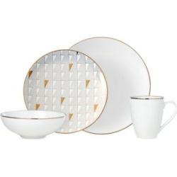 Trianna 4-Piece Porcelain Dinnerware Set