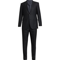 Ermenegildo Zegna Men's Tonal Wool Suit - Grey - Size 60 (50) L found on MODAPINS from Saks Fifth Avenue for USD $3950.00
