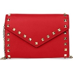 Rockstud Leather Wallet-On-Chain found on Bargain Bro from Saks Fifth Avenue AU for USD $1,040.93