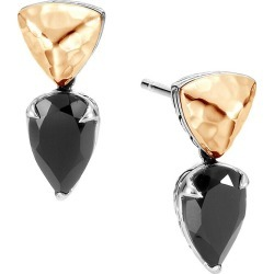 John Hardy Women's Chain Hammered 18K Yellow Gold, Sterling Silver & Black Spinel Drop Earrings - Black found on MODAPINS from Saks Fifth Avenue for USD $595.00
