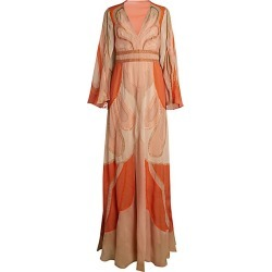 Alberta Ferretti Women's Hand Embroidered Patchwork Fantasy Chiffon Silk Gown - Size 40 (4) found on MODAPINS from Saks Fifth Avenue for USD $7195.00