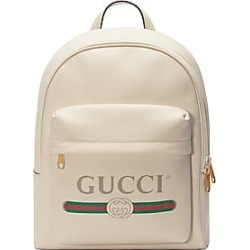 a3bfbb4e5e4 Gucci Men s Gucci Print Leather Backpack - White found on MODAPINS from Saks  Fifth Avenue for