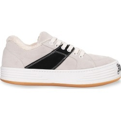Palm Angels Men's Colorblock Suede Sneakers - White Black - Size 11 found on MODAPINS from Saks Fifth Avenue for USD $339.50