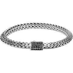 John Hardy Women's Chain Classic Sterling Silver & Black Sapphire Tiga Chain Bracelet - Black found on MODAPINS from Saks Fifth Avenue for USD $695.00