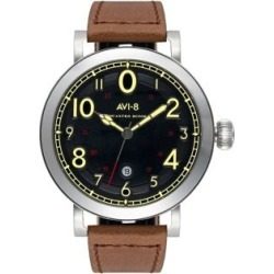 Lancaster Black Dial & Brown Leather Strap Watch found on MODAPINS from The Bay for USD $199.00