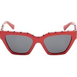 Valentino Garavani Men's 53MM Rectangle Frame Rockstud Sunglasses - Red found on Bargain Bro Philippines from Saks Fifth Avenue for $410.00