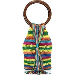 All Things Mochi Women's Rainbow Kai Woven Top Handle Bag - Rainbow found on MODAPINS from Saks Fifth Avenue for USD $315.00