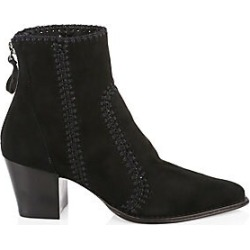Alexandre Birman Women's Benta 60 Suede Booties - Black - Size 35.5 (5.5) found on MODAPINS from Saks Fifth Avenue for USD $850.00