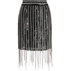 Amen Women's Fringe Mini Skirt - Black With Gold - Size 46 (10) found on MODAPINS from Saks Fifth Avenue for USD $589.50