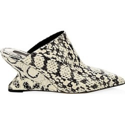 Pineto Snakeskin Wedge Mules found on MODAPINS from Saks Fifth Avenue for USD $930.00