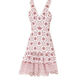 Alexis Women's Villa Eyelet Lace Flounce Dress - Berry Eyelet Embroidered - Size Small found on MODAPINS from Saks Fifth Avenue for USD $546.00