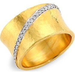 Gurhan Women's Hourglass 22K Yellow Gold & Diamond Ring - Gold - Size 6.5 found on MODAPINS from Saks Fifth Avenue for USD $4500.00