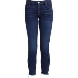7 For All Mankind Women's Mid-Rise Ankle Skinny Jeans - Dark Indigo - Size 28 (6) found on MODAPINS from Saks Fifth Avenue for USD $215.00
