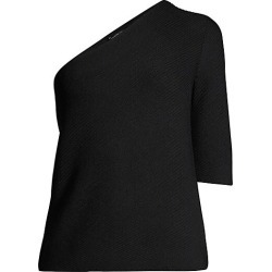 Lafayette 148 New York Women's One-Shoulder Asymmetrical Top - Black - Size Large