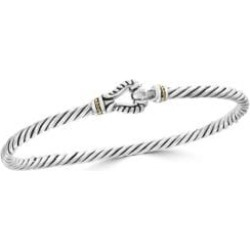 18K Yellow Gold and 925 Sterling Silver Bangle Bracelet found on Bargain Bro India from The Bay for $302.50