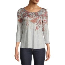 Petite Floral Three-Quarter Sleeve Top found on Bargain Bro Philippines from The Bay for $7.99
