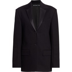 Alexander Wang Women's Boxy Single-Breasted Tuxedo Jacket - Black - Size 4 found on MODAPINS from Saks Fifth Avenue for USD $895.00