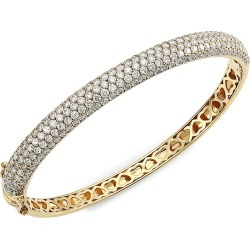 Larsa Marie Women's Marcie 14K Yellow Gold & Diamond Bangle - Yellow Gold found on Bargain Bro Philippines from Saks Fifth Avenue for $9960.00