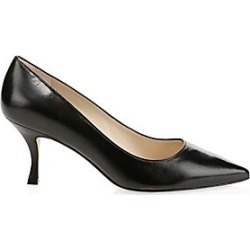 Stuart Weitzman Women's Tippi Leather Stiletto Pumps - Black - Size 8 found on Bargain Bro India from LinkShare USA for $398.00