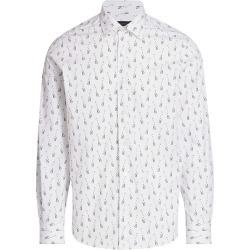 Saks Fifth Avenue Men's COLLECTION Giraffe-Print Sport Shirt - White Multi - Size XXXL found on Bargain Bro from Saks Fifth Avenue for USD $90.29