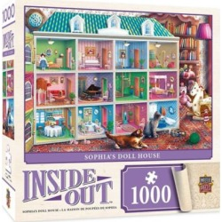 MasterPieces Puzzle Company Inside Out - Sophia's Dollhouse 1000 Piece Jigsaw Puzzle, Multicolored, 19.25
