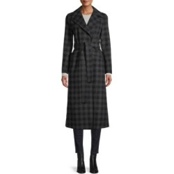 Long Oversized Gingham Maxi Coat