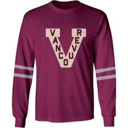 T-shirt rétro en mélange de coton à manches longues Thompson de la LNH des Millionnaires de Vancouver