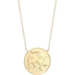 Jennifer Zeuner Jewelry Women's Sylas 14K Gold Vermeil Aries Medallion Necklace - Yellow Goldtone found on Bargain Bro Philippines from Saks Fifth Avenue for $187.00