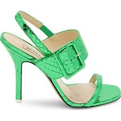 Attico Women's Mariah Metallic-Leather Slingback Sandals - Emerald - Size 39 (9) found on MODAPINS from Saks Fifth Avenue for USD $905.00