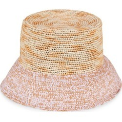 Sicilian Stories Lamp Shade Mélange Mixed-Media Straw Hat found on Bargain Bro UK from Saks Fifth Avenue UK