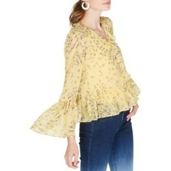 Ruffled Floral Bell-Sleeve Top found on Bargain Bro Philippines from The Bay for $44.50