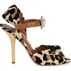 Dolce & Gabbana Women's Embellished Leopard-Print Peep-Toe Sandals - Leopard - Size 37 (7) found on Bargain Bro Philippines from Saks Fifth Avenue for $1095.00