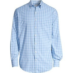 Peter Millar Men's Crown Sport Natural Touch Gingham Sport Shirt - Liberty Blue - Size Small found on Bargain Bro Philippines from Saks Fifth Avenue for $139.00