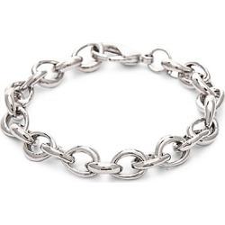 Rhodium-Plated Link Chain Bracelet