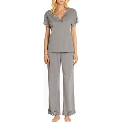 Natori Women's Zen Floral Jersey Pajamas - Grey - Size Small found on Bargain Bro Philippines from Saks Fifth Avenue for $150.00