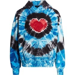 Amiri Men's Heart Tie-Dye Oversized Hoodie - Blue Tie Dye - Size Large found on MODAPINS from Saks Fifth Avenue for USD $400.50