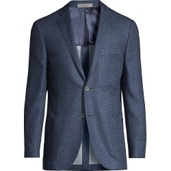 Corneliani Men's Gate Printed Wool Sportcoat - Blue - Size 52 (42) R found on MODAPINS from Saks Fifth Avenue for USD $405.00