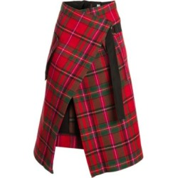 2 Moncler 1952 Plaid Virgin Wool Wrap Midi Skirt found on Bargain Bro Philippines from Saks Fifth Avenue AU for $1164.40