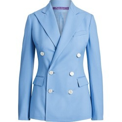 Ralph Lauren Collection Women's Camden Cashmere Double-Breasted Jacket - Blue - Size 14
