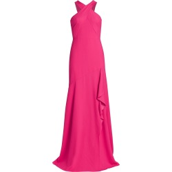 ML Monique Lhuillier Women's Halter Crepe Gown - Peony - Size 4 found on MODAPINS from Saks Fifth Avenue for USD $495.00