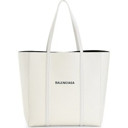 Balenciaga Women's Small Everyday Leather Tote - Blanc Optique found on MODAPINS from Saks Fifth Avenue for USD $1350.00