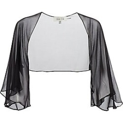 Teri Jon by Rickie Freeman Women's Chiffon Shrug - Black - Size 2 found on MODAPINS from Saks Fifth Avenue for USD $130.00