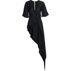 Cult Gaia Women's Selena Drape Linen-Blend Top - Black - Size Medium found on MODAPINS from Saks Fifth Avenue for USD $258.00