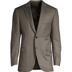 Brioni Men's Pinstripe Wool Suit Jacket - Arancio - Size 58 (48) R found on MODAPINS from Saks Fifth Avenue for USD $2418.75